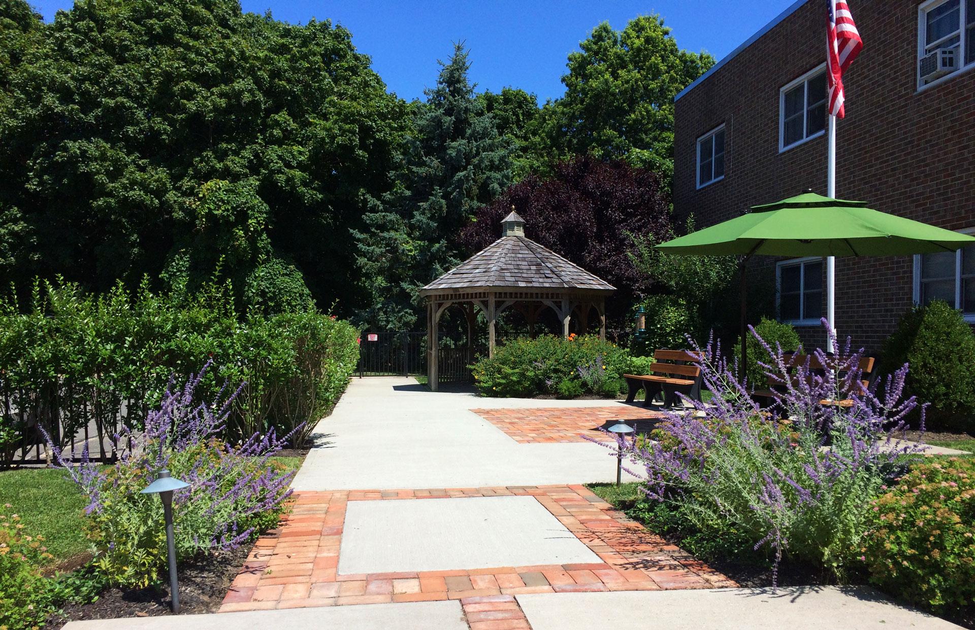 Patio next to the garden at San Simeon