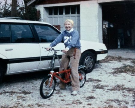 Mary Tuthill Learns how to Ride a Bike in her 70s