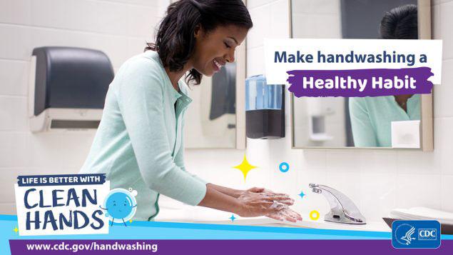 CDC handwashing healthy habits