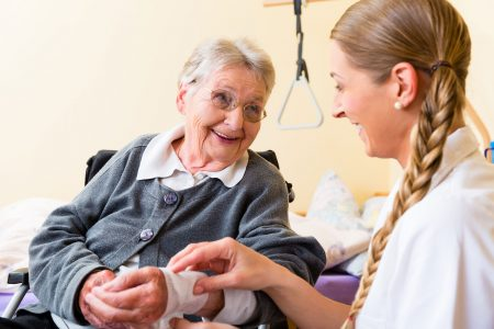 Wound care at San Simeon by the Sound Nursing Home
