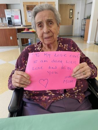 Ida, San Simeon by the Sound resident sending her love