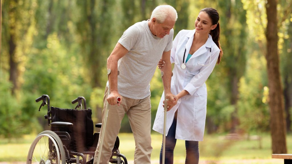 Multiple Sclerosis Awareness nurse with resident
