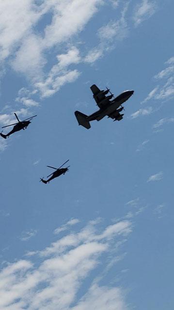 106th Rescue Wing flyover San Simeon