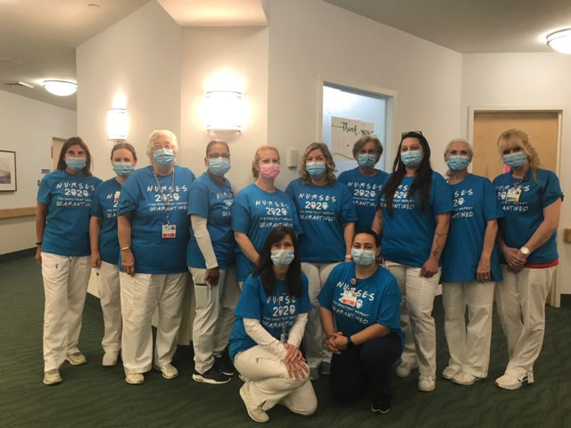 National Nurses Week group photo at San Simeon by the Sound