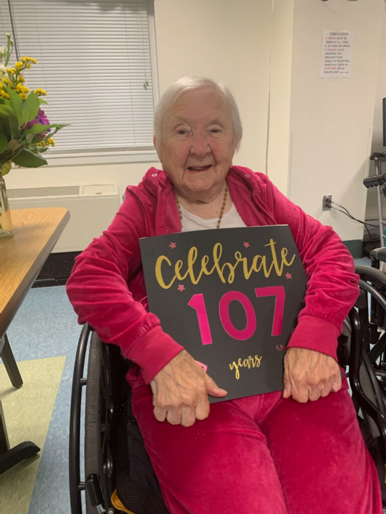 Mary Tuthill's 107th birthday